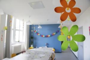 Visite du foyer Charles Frey, foyer de la jeunesse, maison d'enfants à caractère social, le 20 avril 2015, à Strasbourg.
