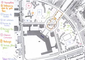 Plan aménagement place